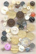 One Ounce Mixed Vintage Button Lot
