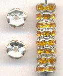 7mm Silver/Topaz RS Rondelles