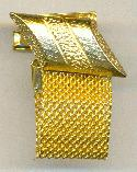 30/13mm Gold Mesh Wrap Dia Cufflink