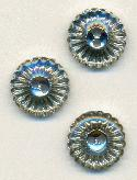 15mm Clear/Silver Plastic Buttons