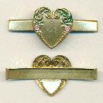 71/32mm AB Plated Heart Hair Comb Covers
