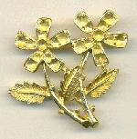 40/45mm GP Flowers Brooch W/Settings