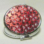 3''x2.75'' Red/Black Glittery Compact