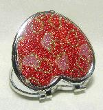 2.5''x3'' Red Glittery Heart Compact
