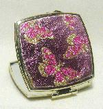 2.5'' Pink Glittery Square Compact