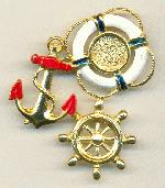 2.25''x1.5'' GP Nautical Brooch