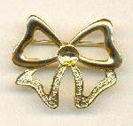 33/48mm Gold Plated Bow Brooch w/ Cup