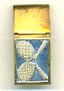 50/22mm Brass Hinged Racquet Money Clip