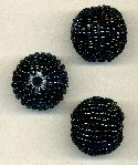24mm Black Wrapped Beads