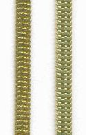 5mm Flat Brass Snake Chain