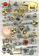 Mixed Lot of Brooch and Earring Findings