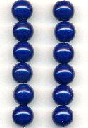 9.5mm Navy Blue Acrylic Round Beads