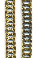 9.6mm Folded Brass Chain