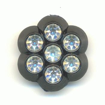 13mm black button w swarovski crystal rs jan 39 s jewelry - Swarovski crystal buttons ...