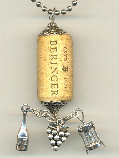 wine motif wine cork necklace jan 39 s jewelry supplies