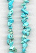 34'' Strand of Turquoise Chip Beads