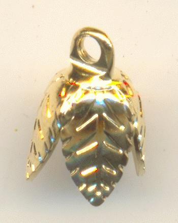 7mm Gold Plated Leaf Bell Cap Jan S Jewelry Supplies