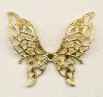 1 1/2'' by 1 1/2'' Gold Butterfly