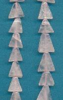 10mm Rose Quartz Triangle Beads