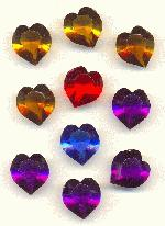 15mm Mixed Acrylic Heart Stones