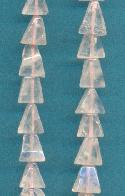 5-9mm Rose Quartz Triangle Beads