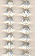 8mm Clear Czech Faceted Glass Beads
