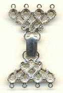 2'' by 1 1/8'' AS Clasp 4 Rings