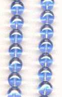 8mm Luster Sapphire Beads