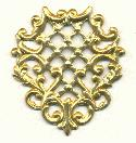 1 3/4'' by 1 1/2'' Flat Filigree