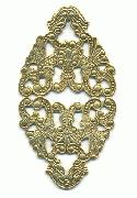 2'' by 1'' AG Diamond Shaped Filigree