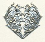 2 1/2'' by 2 1/2'' AS Heart Stamping