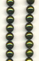 8mm Dark Olive Green Glass Pearl