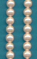 8mm Soft Pink Glass Pearls