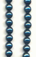 6mm Royal Blue Glass Pearls