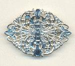 2 1/4'' by 1 1/2'' SP Filigree Brooch Base
