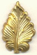 2 1/4'' by 1 1/2'' Brass Leaves