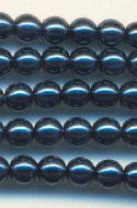 4mm Royal Blue Glass Pearl Beads