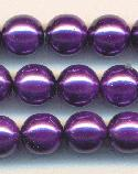 8mm Wisteria Purple Pearls
