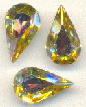 13x7.8mm Swarovski Jonquil AB Pear RS