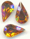 13x7.8mm Swarovski Topaz AB Pear RS