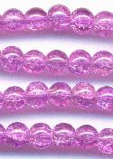 6mm Lilac Crackle Bead
