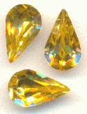 10x6mm Swarovski Light Topaz Pear RS