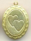24x19.5mm Oval Heart Locket
