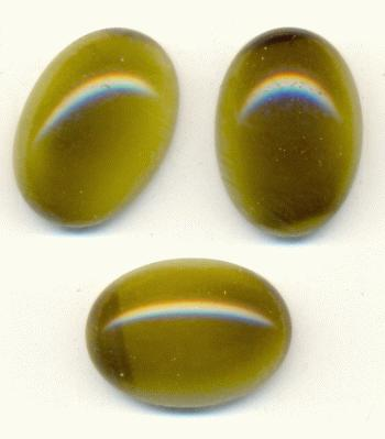 Green Gemstone Opaque 18x13mm Opaque Olive G...