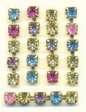 1'' Pieces of 4mm Mixed Pastel RS Chain