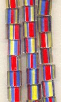Red, Blue, Yellow Glass Beads