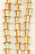 Orange and Yellow Cane Glass Beads