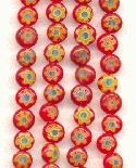 6mm Red/Yellow Milifore' Beads