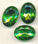 25x18mm Dark Peridot TTC Oval RS