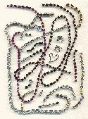 1/2 oz Mixed Swarovski Rhinestone Chains